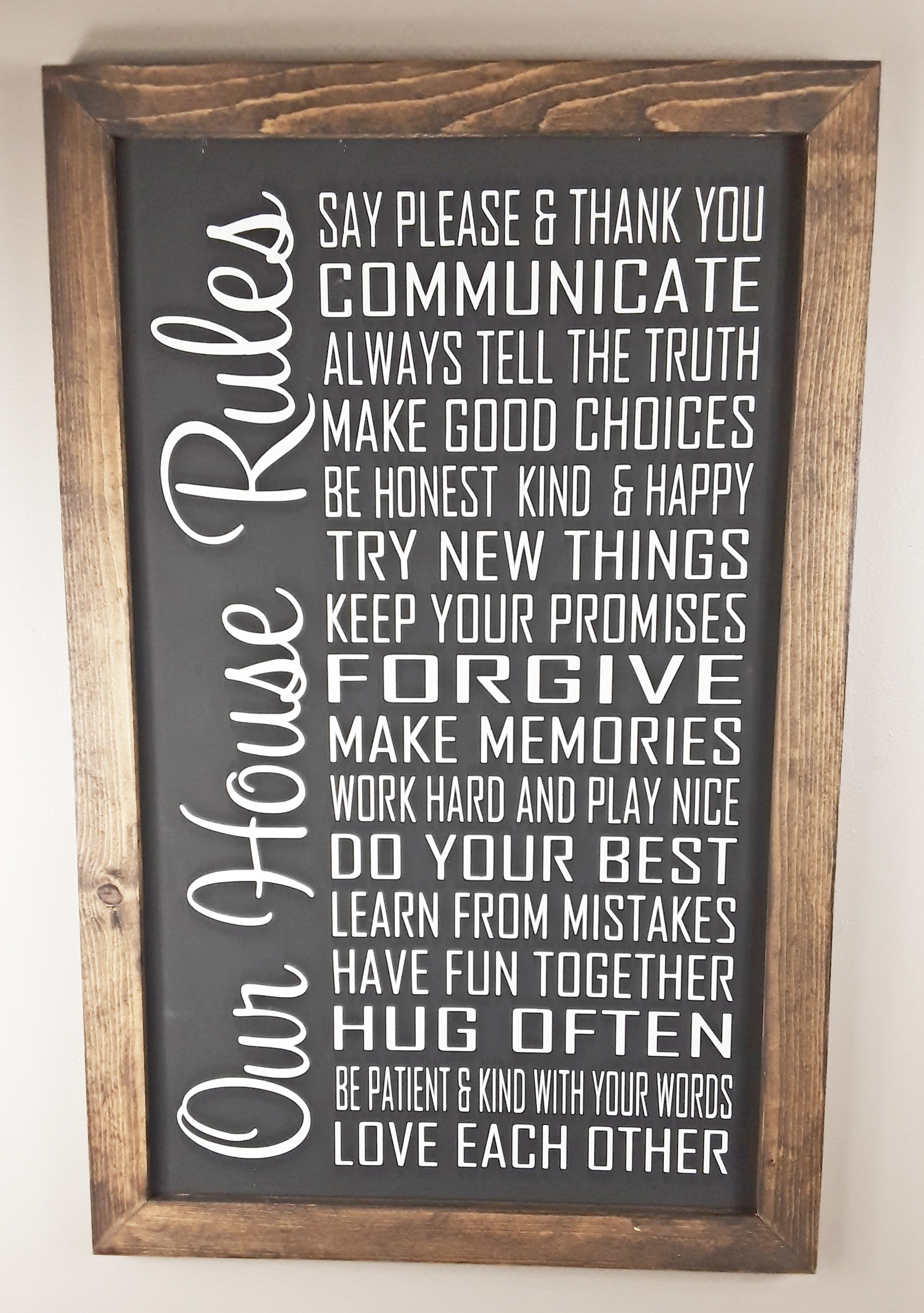 Our House Rules Sign