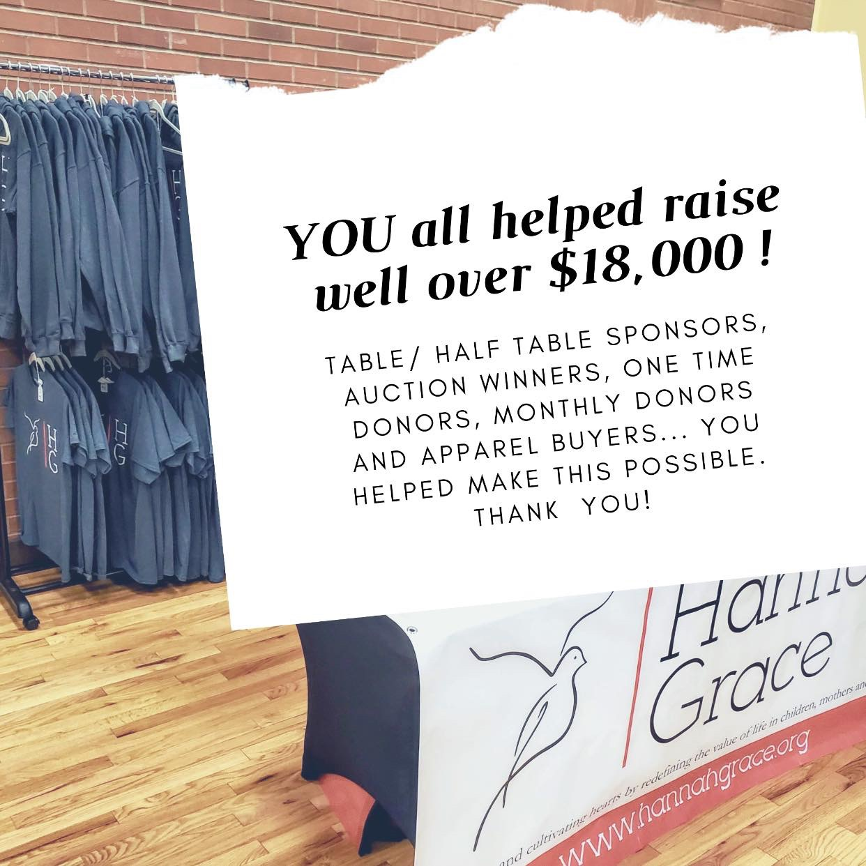 The Event raised over $18,000 for HG families!