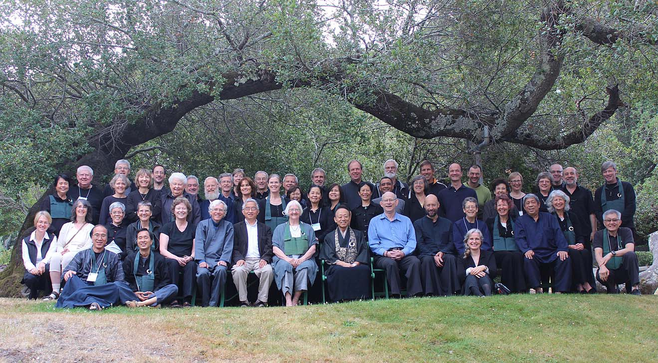 Roselyn Stone (front row, six from left) at Gathering of international Sanbo-Zen teachers (Canada).