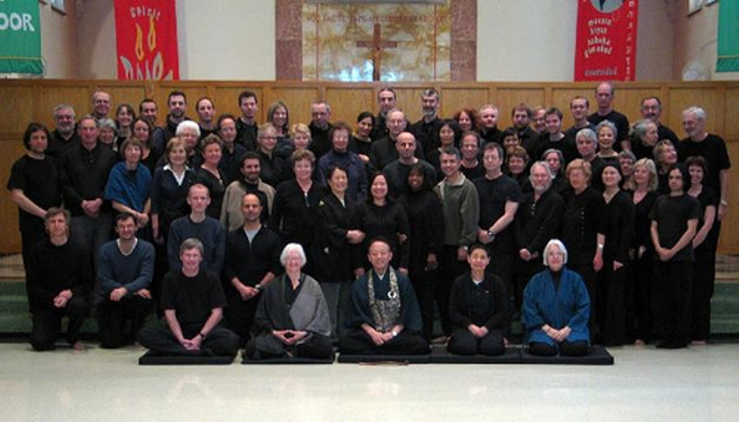 Roselyn Stone (front row, second from left) at Gathering of international Sanbo-Zen teachers (USA)