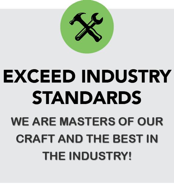 Exceed Industry Standards