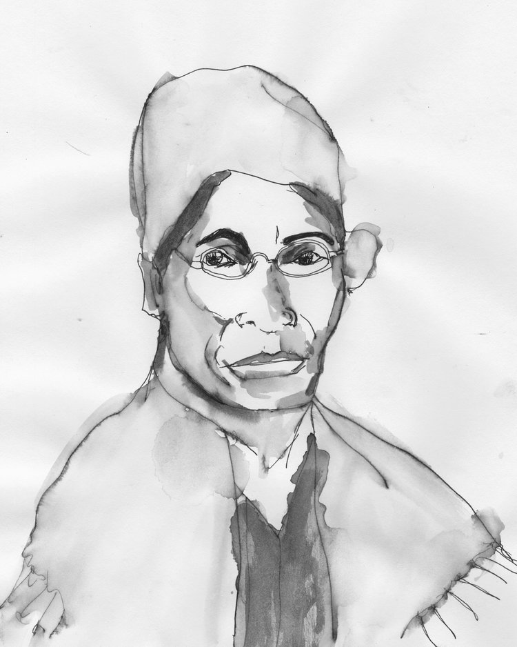 Sojourner Truth, Pen and Ink on Paper, 9x11.5, 2018 ©