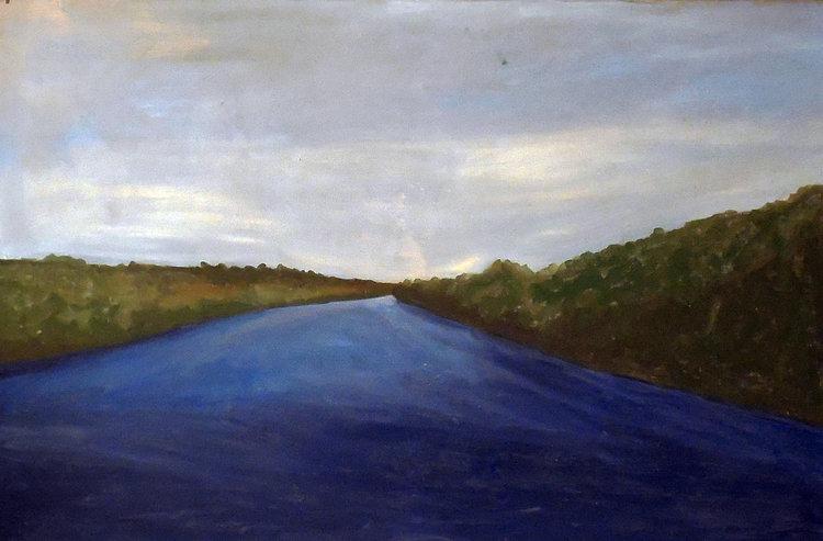 Delaware River, Oil on Canvas, 38x24, 2015 ©