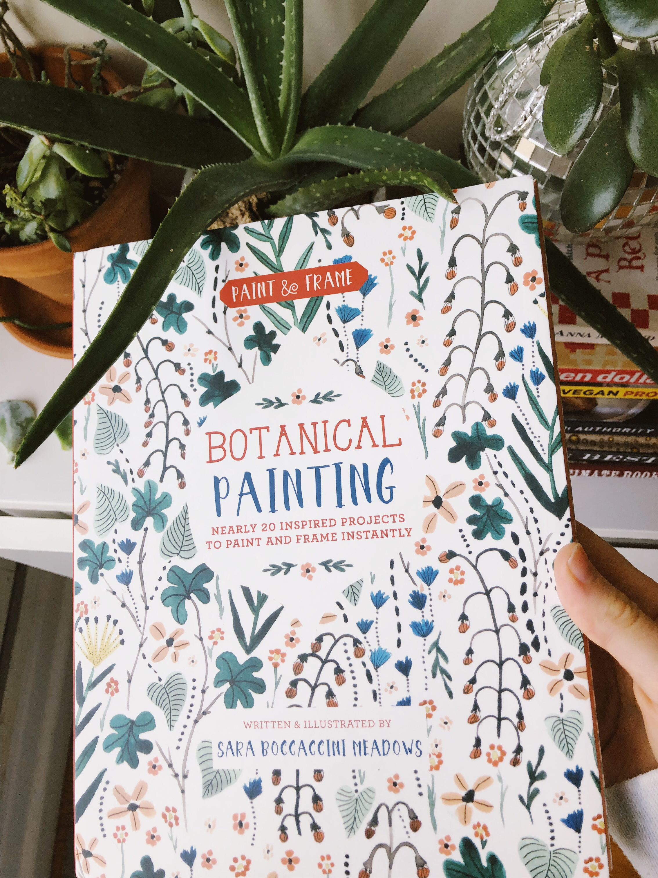 """A """"how to"""" book from Sara Boccaccini Meadows for my mom. We can't wait to learn botanical painting!"""