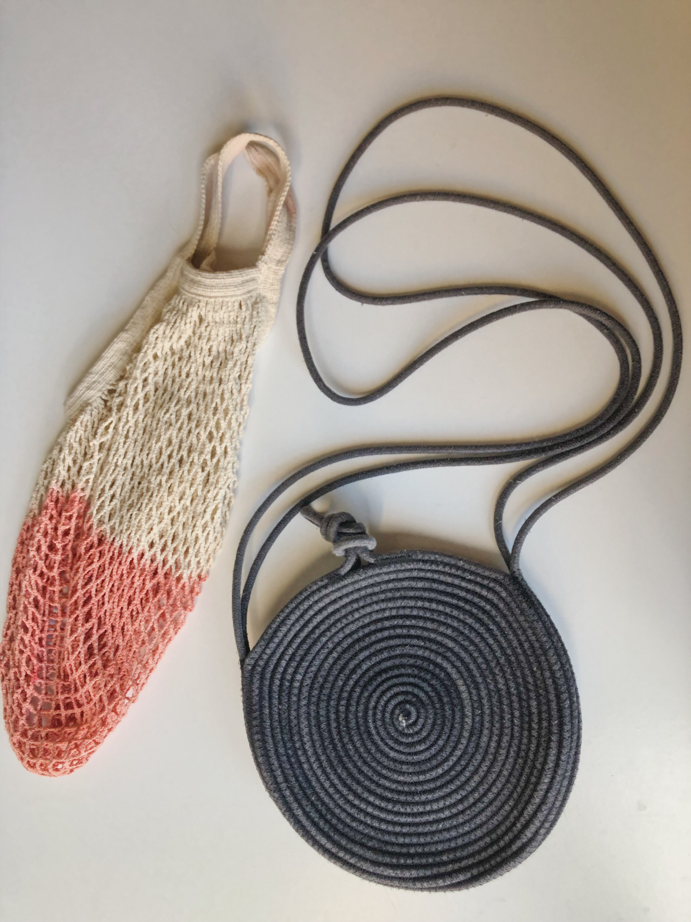 My everyday rope tote and mesh market bag, my two favorites that I've purchased from APPRVL.