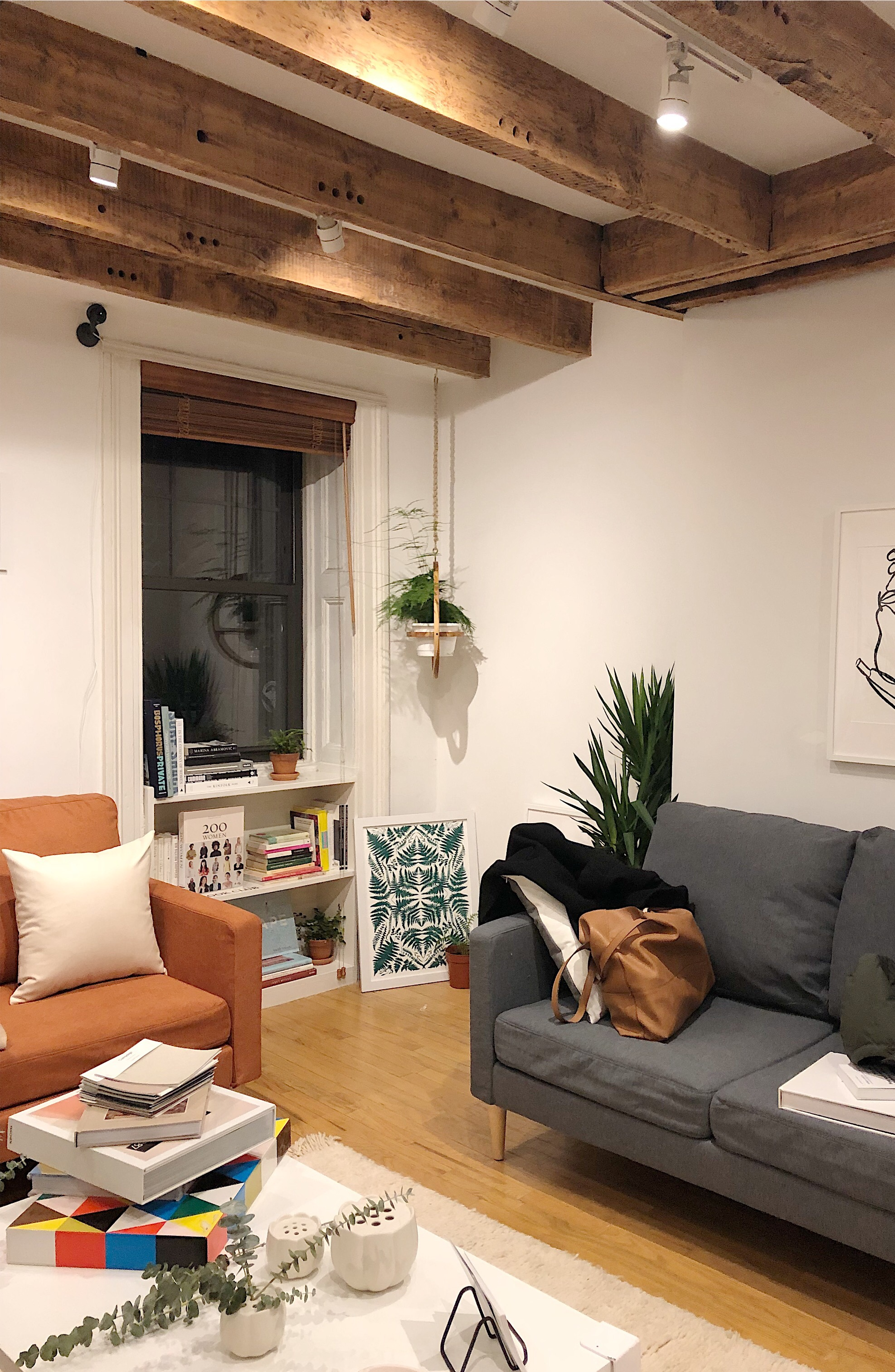 A small corner of the three-story brownstone where Young + Able hosted their most recent pop-up of female makers.