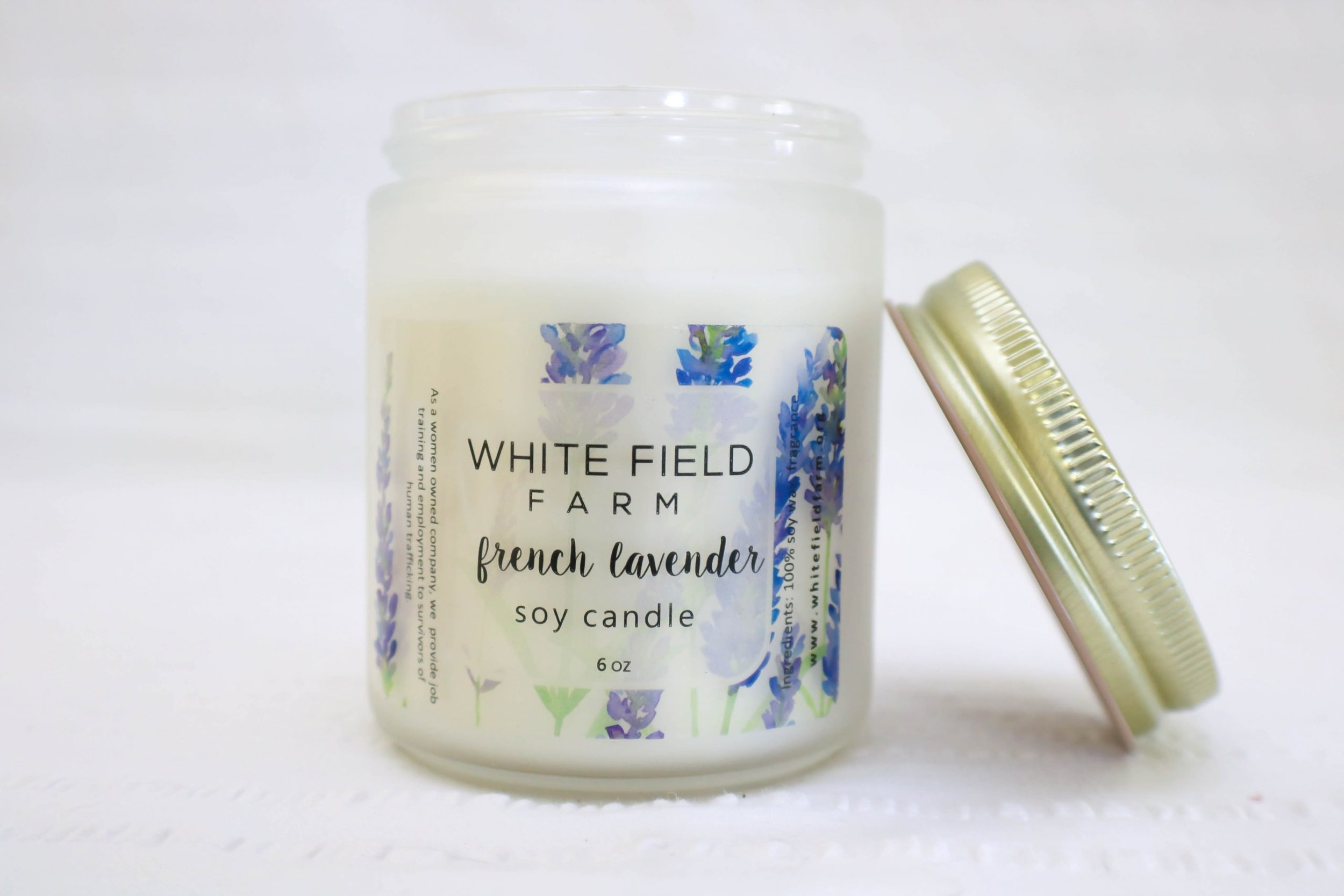 White Field Farm  is run by a little community of Orthodox Greek nuns in Montana. Proceeds from this non-profit beauty and home care company support female survivors of abuse and human trafficking. I'm in love with their soy candles, especially french lavender for spring.