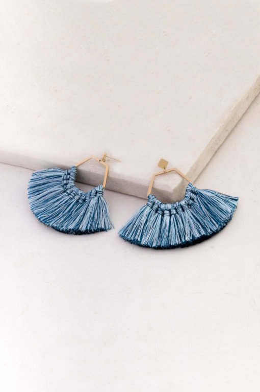 Starfish Project  is a social enterprise that helps women get out of human trafficking (mostly in Asia) by providing them with a wide range of support, from housing to vocational programs. What I love about this company's site is that each product's description contains the amount of impact you would have by purchasing it. For example, these  Ava Azul Tassel earrings  provide one week of a woman's stay in a shelter.