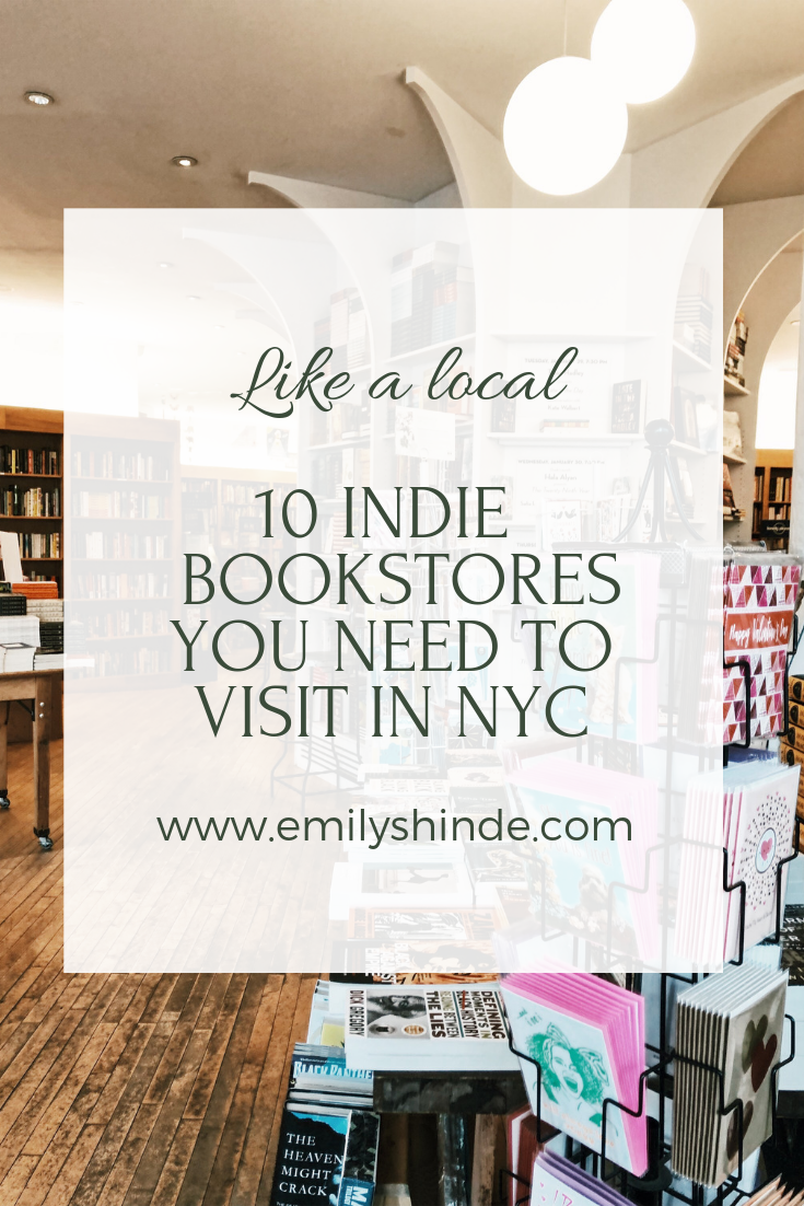 10 Indie NYC Bookstores
