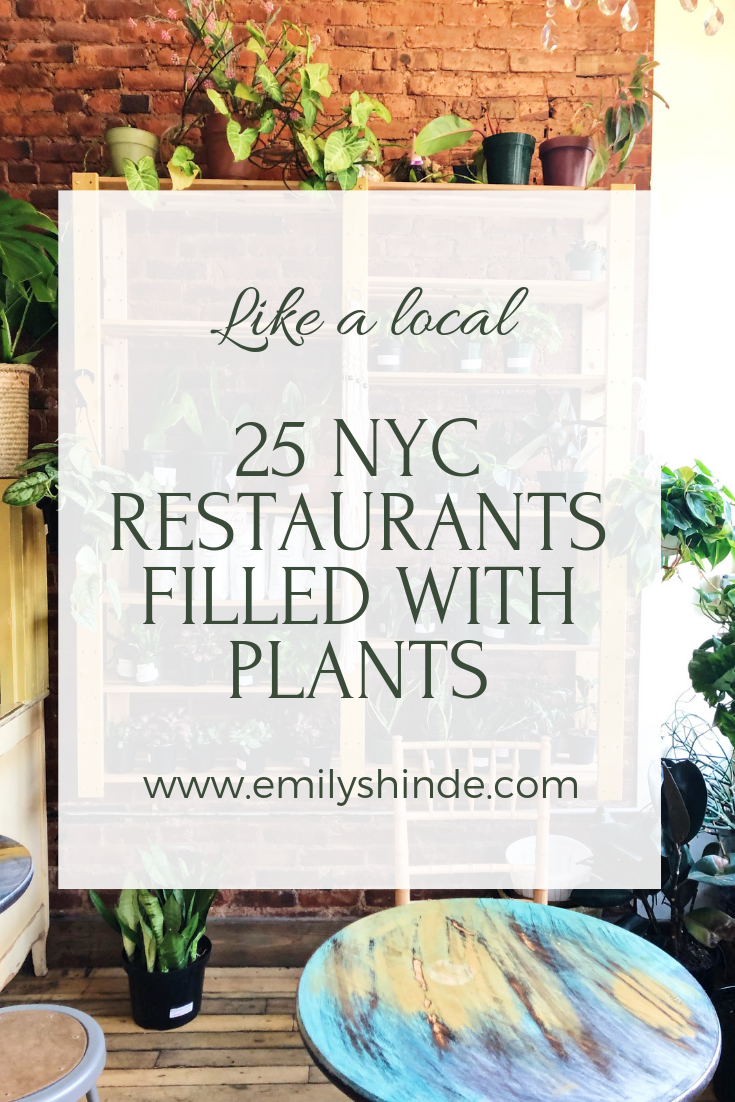 nyc restaurants with plants
