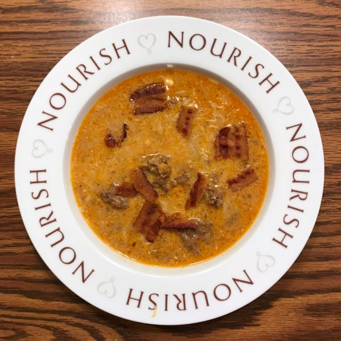 Here's the Bacon Cheeseburger soup. Click the photo to see the recipe!