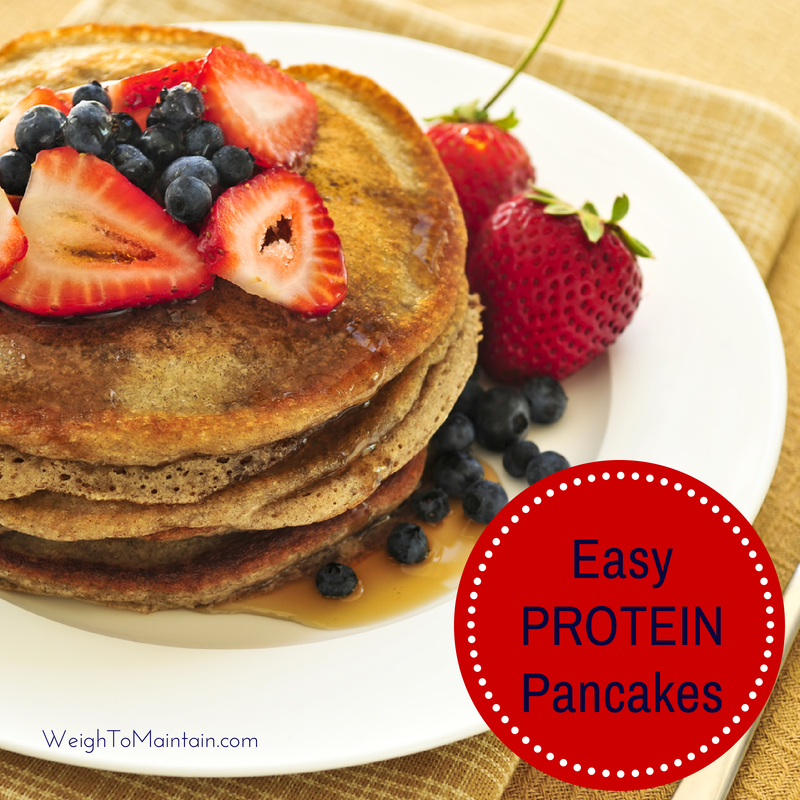 easy protein pancakes weigh to maintain