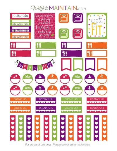 healthy habits printable stickers