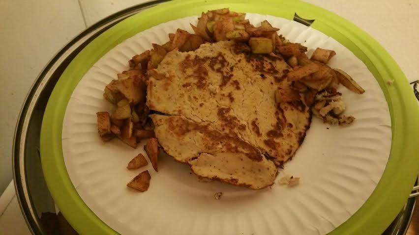 vanilla protein pancakes by madeleine