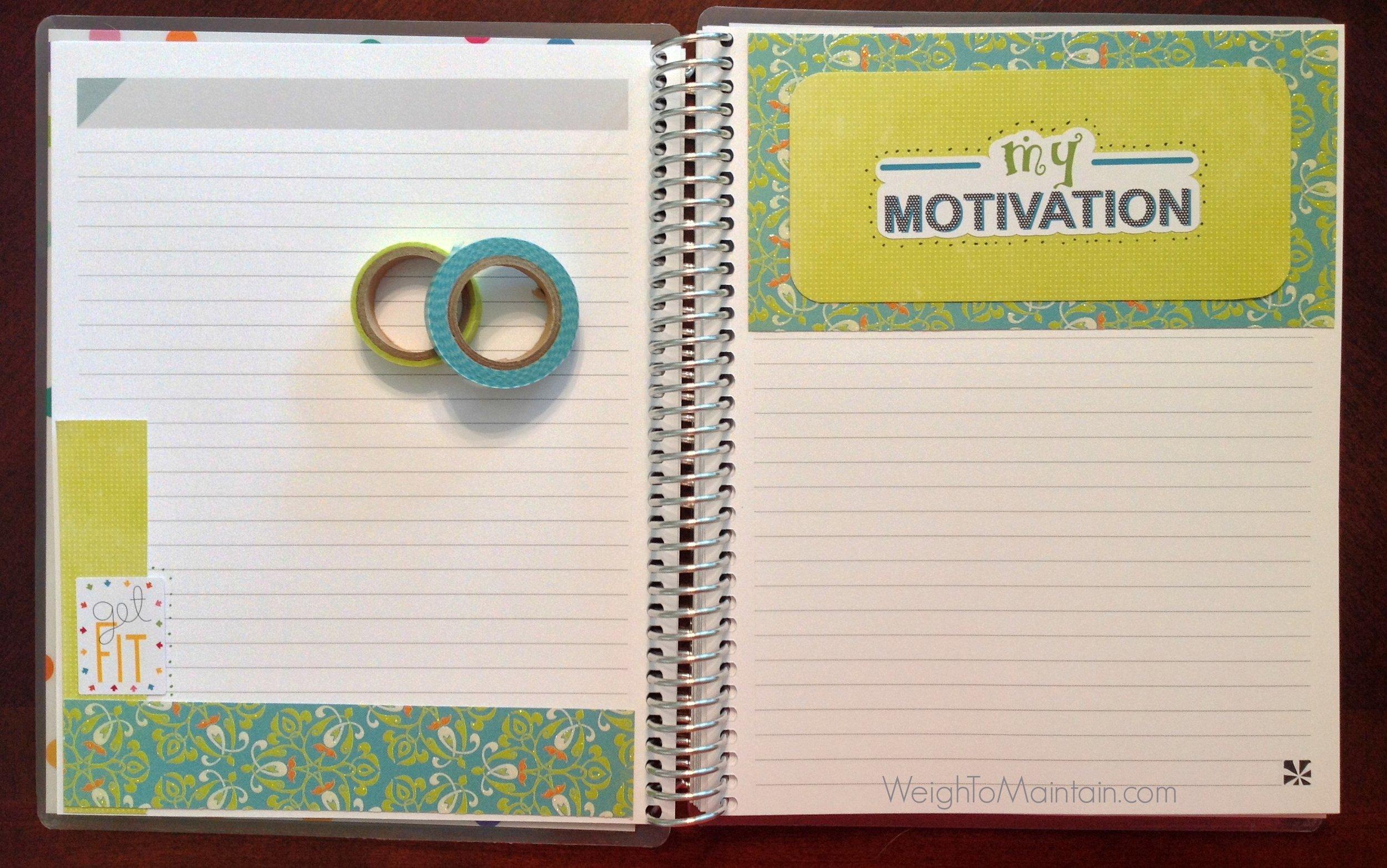 erin condren notebook, fitness notebook