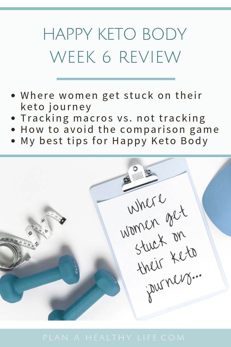 Happy Keto Body Review Week 6 - where women get stuck on their keto journey.