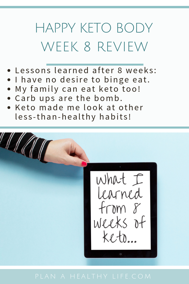 Happy Keto Body Review Week 8: lessons learned so far.