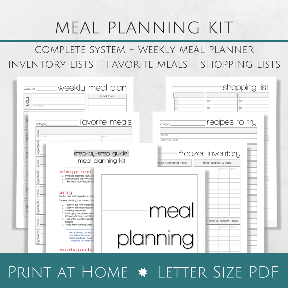 Printable meal planning system - Plan a Healthy Life