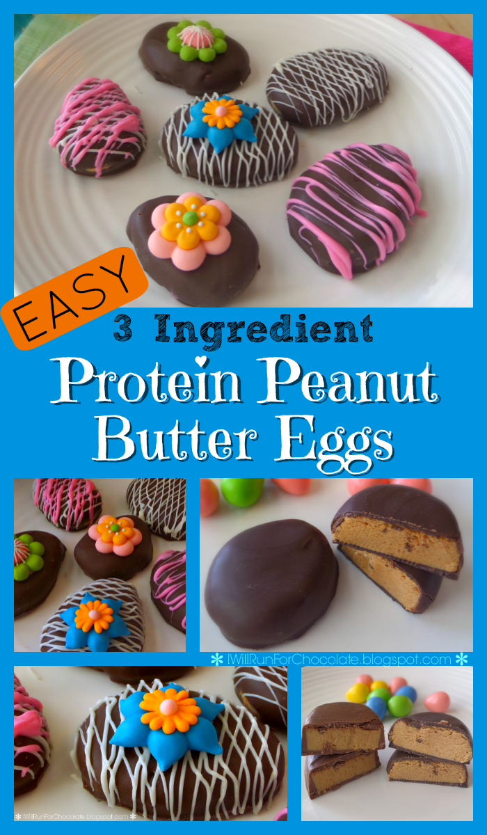 How to make easy protein peanut butter eggs. Only 3 ingredients! Plan a Healthy Life