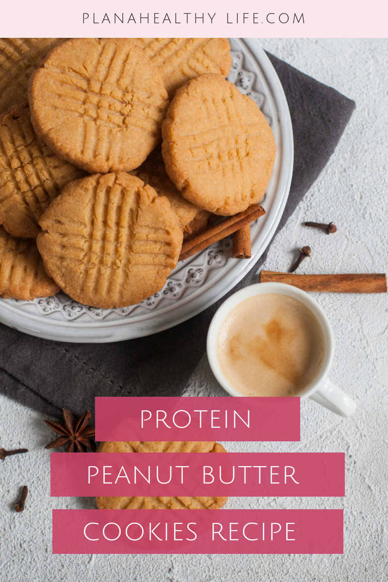 Protein peanut butter cookie recipe, gluten free and only 4 ingredients. | Plan a Healthy Life