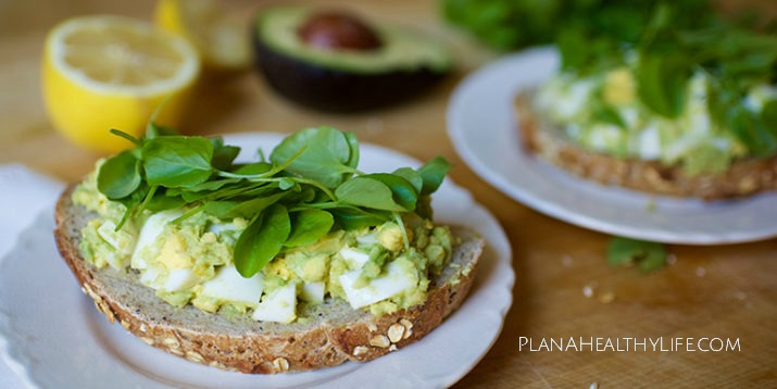 Avocado Egg Salad Toast from the Complete Guide to the Morning Meltdown 100 Meal Plan. Plan a Healthy Life