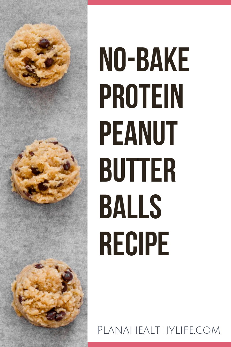 No-bake, 3 ingredient protein peanut butter balls recipe  at PlanAHealthyLife