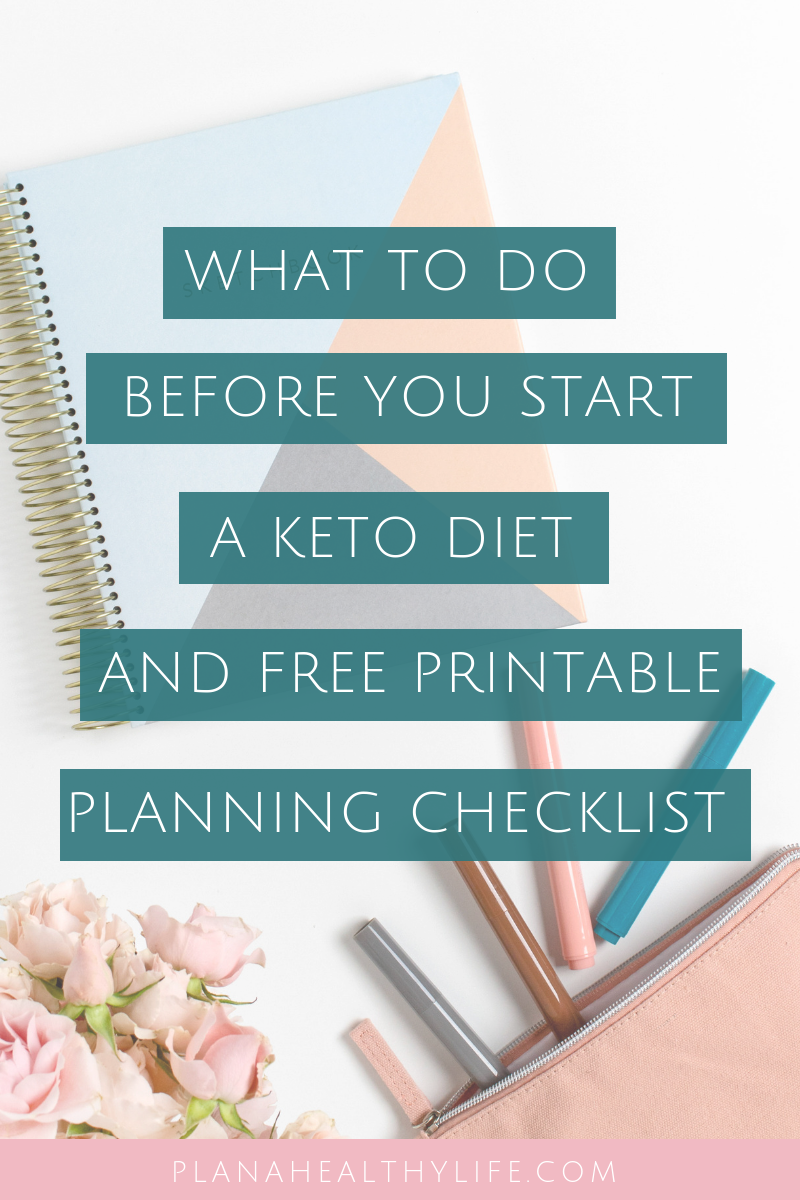 What to do before you start a keto diet (and free printable keto diet planning checklist). Start your keto diet the right way with these simple tips to plan a perfect keto start! Includes printable checklist.