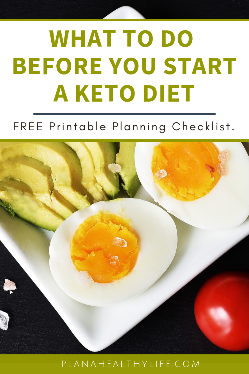 What to do BEFORE you start a keto diet - and free printable checklist to keep you organized! Planning is a super critical to success on any diet program, particularly a ketogenic diet. Learn what to do BEFORE you start your meal plan.