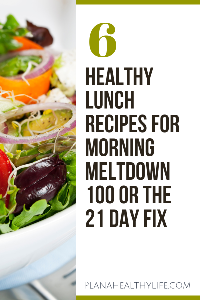 Here are 6 healthy and delicious lunch recipes specifically designed for Beachbody's Morning Meltdown 100 meal plan. They also work perfectly with the 21 Day Fix, Ultimate Portion Fix, 2B Mindset, or for anyone who wants a nutrient-packed, satisfying lunch. I'll share the recipes plus meal planning tips!
