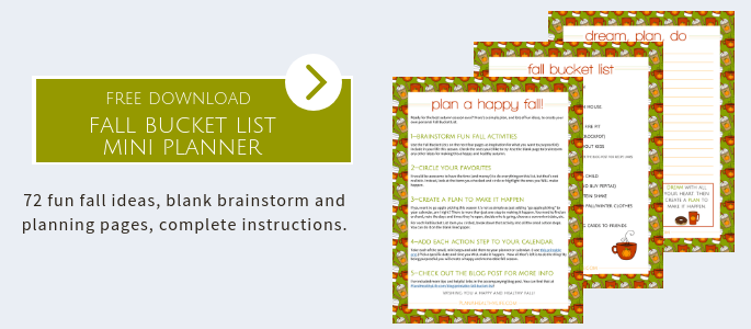 Download a free printable fall bucket list.