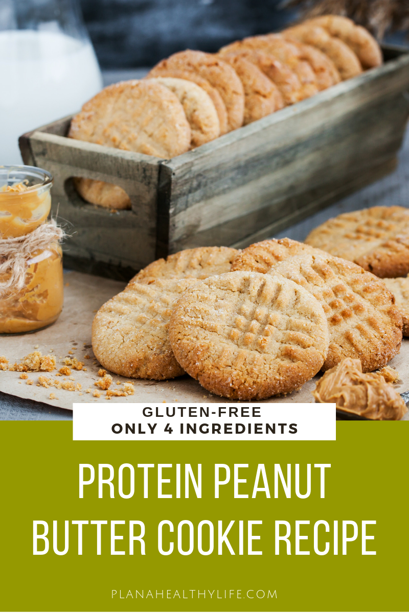 This gluten-free protein powder peanut butter cookie has all of the great taste of a traditional peanut butter cookie, but none of the guilt. Takes just a few minutes to mix together a batch of warm, yummy cookies.