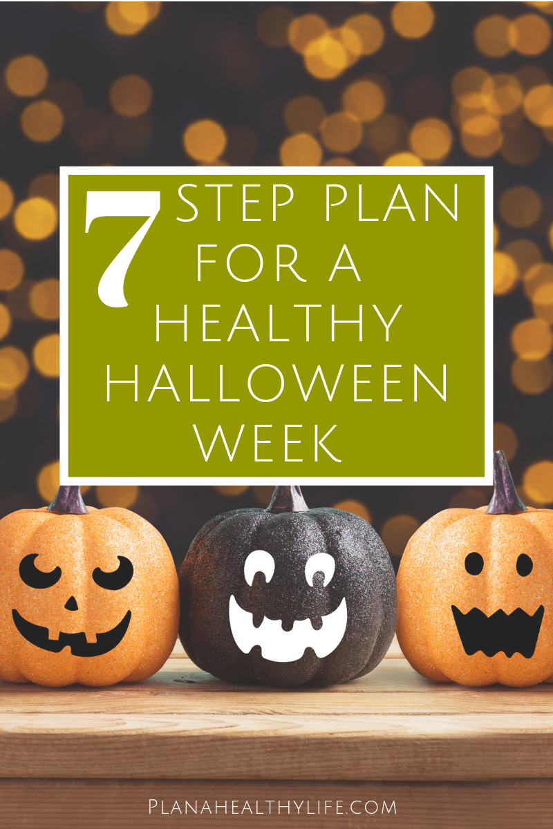 Don't be scared of blowing your diet on Halloween! Here is a simple 7 step plan to enjoy the season AND get back right back on track. I also have a 7 day printable healthy Halloween week planner to help keep you focused.