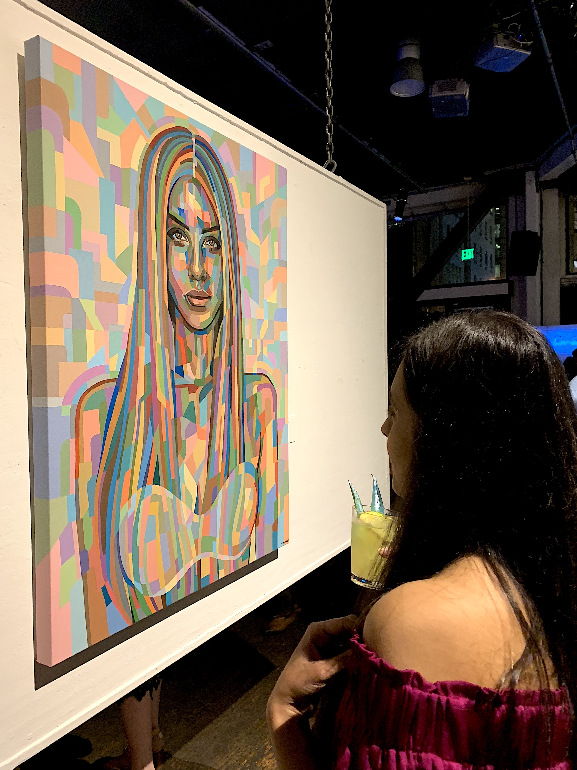 - Nidhi Moghariya is a contemporary artist based in San Francisco Bay Area, whose vibrant portraits celebrate the beauty of women. Her aim is not so much to represent her subjects realistically, but rather to re-imagine their energy in the paint. Spending countless hours breaking down her subject into patterns and fragments of color Nidhi produces artworks that are not only striking but deep and powerful. Painted predominantly with acrylic paint, each piece begins with a subject, but with a large amount of experimentation, each art piece takes on its own journey from start to finish. The pieces challenge viewers to draw upon their own emotions and personal experiences.