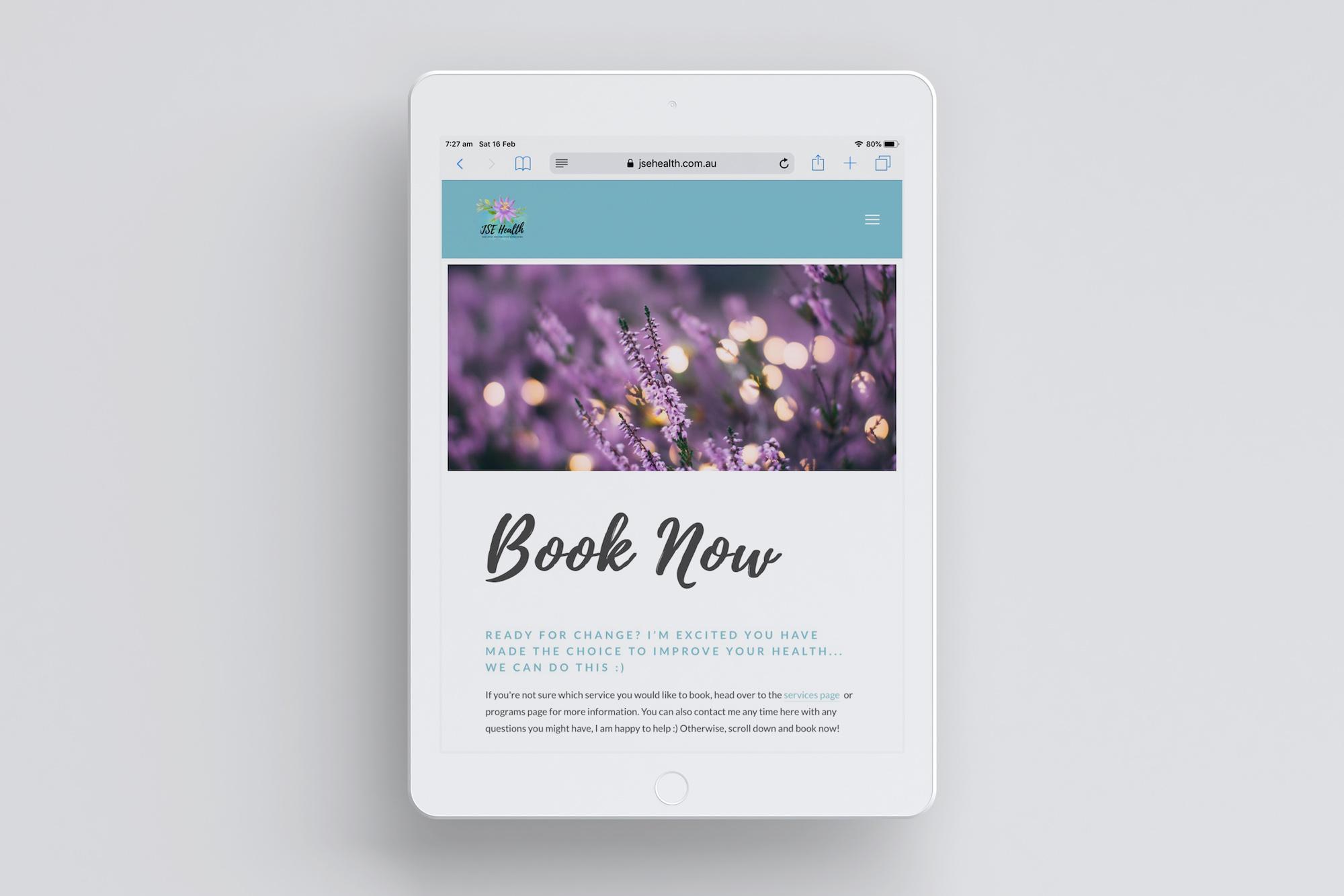 JSE Health iPad Book Now Mock Up Plush Design Studio Coffs Harbour.jpg