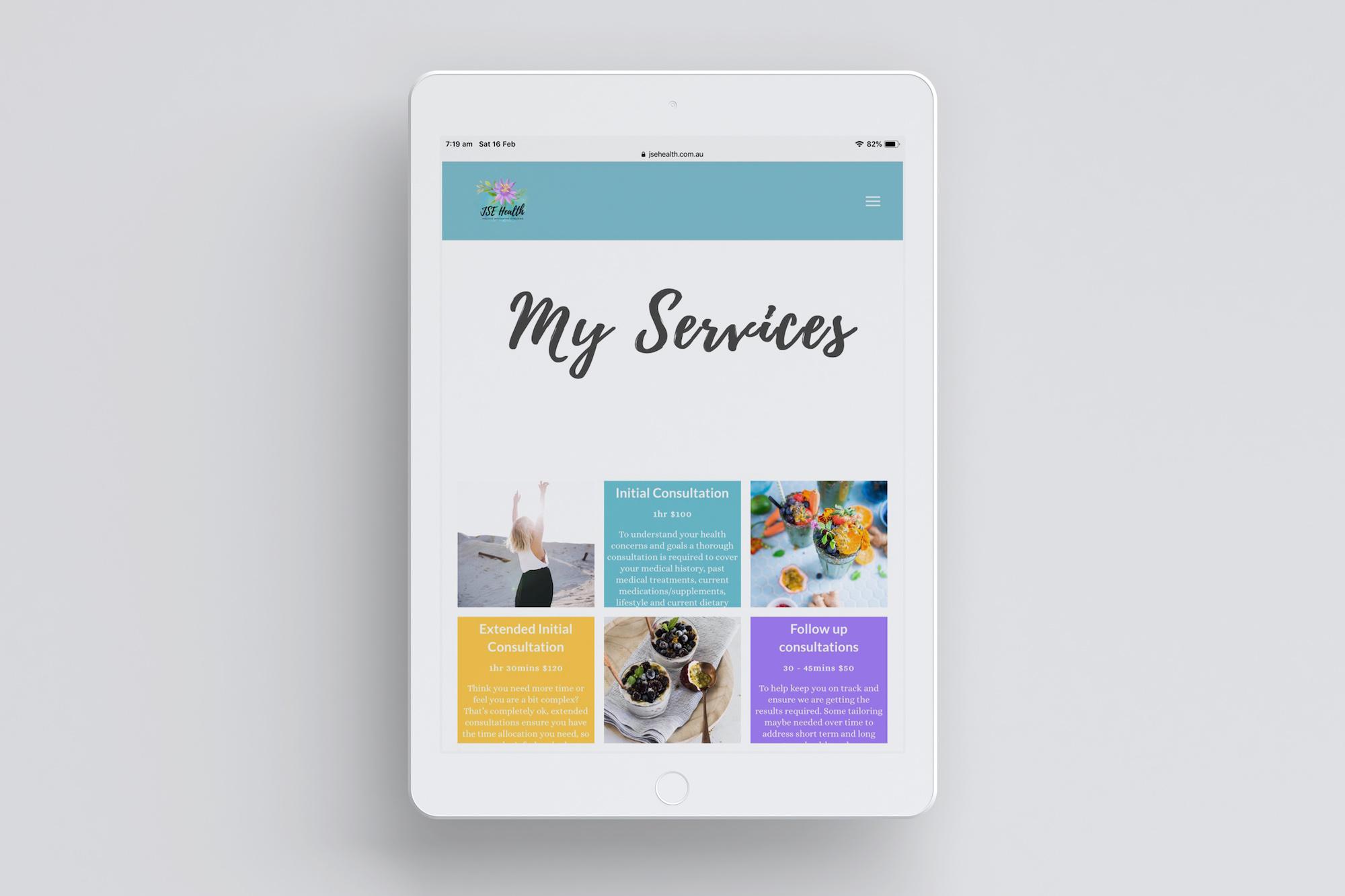 JSE Health iPad Services Mock Up Plush Design Studio Coffs Harbour.jpg