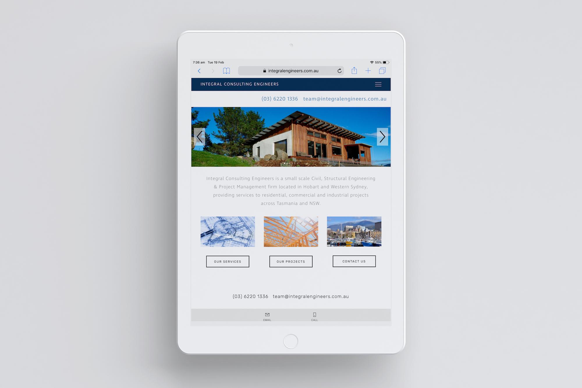 Website Design Coffs Harbour Integral home iPad Plush Design Studio Coffs Harbour.jpg