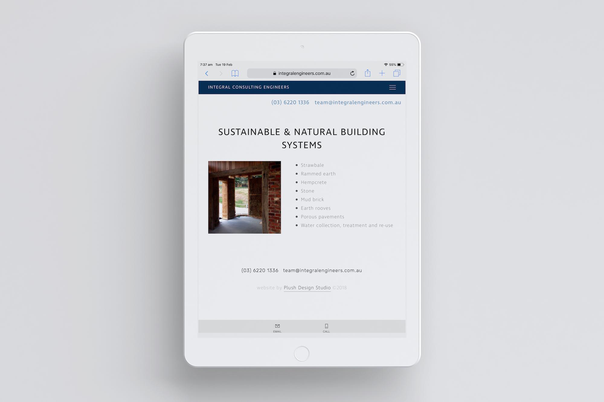 Website Design Coffs Harbour Integral services iPad Plush Design Studio Coffs Harbour.jpg