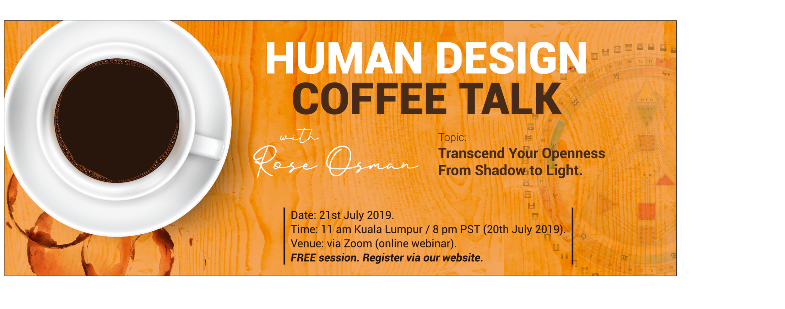 Upcoming Free Event - Coffee Talk about Human Design. Register HERE.