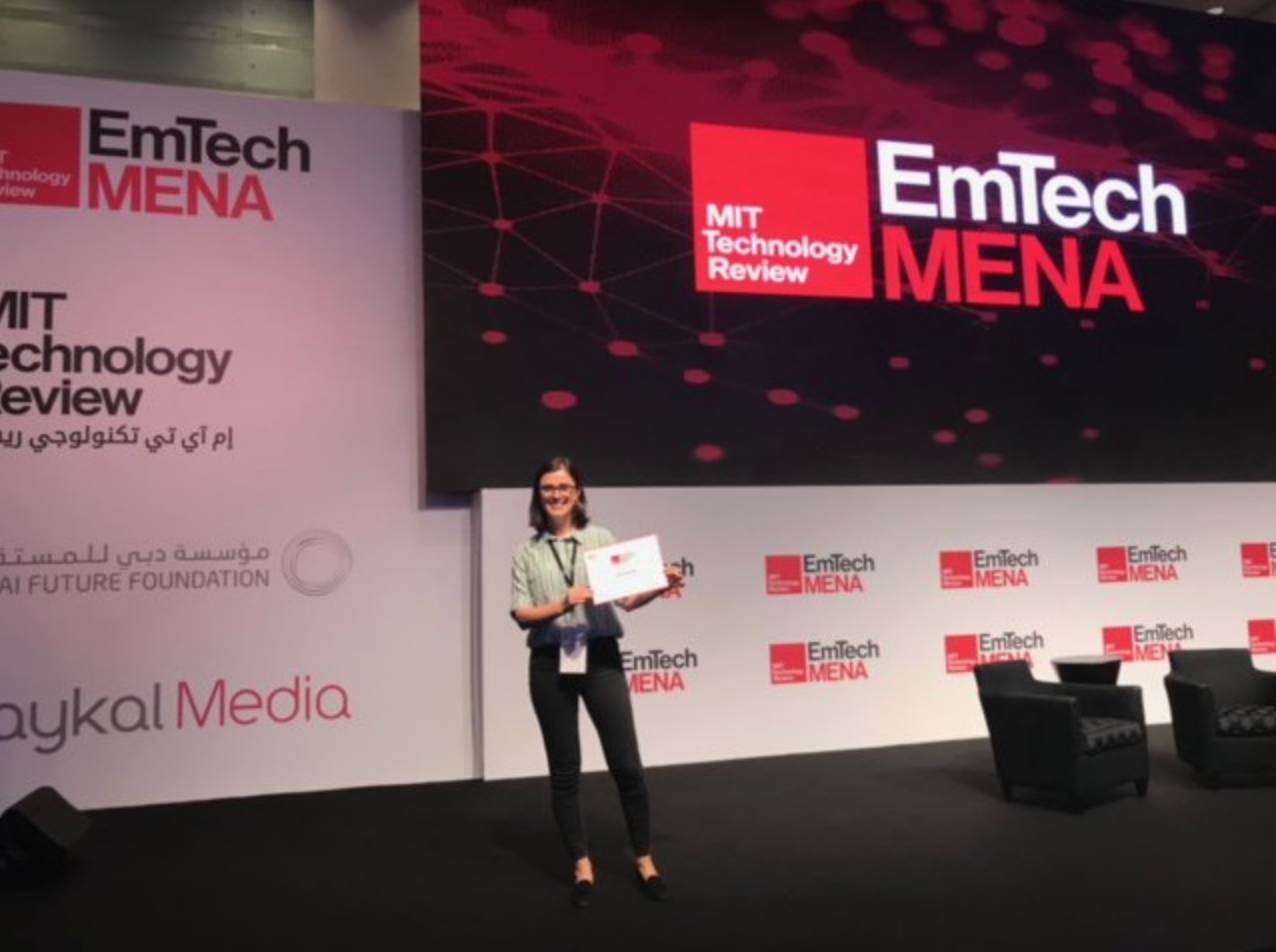 Professor Derya Baran Awarded Innovators Ander 35 Award - 1/10/18OMEGA Lab PI Derya Baran was recently recognized as one of the top Innovators under 35 by MIT Technology Review at EmTechMENA in Dubai.