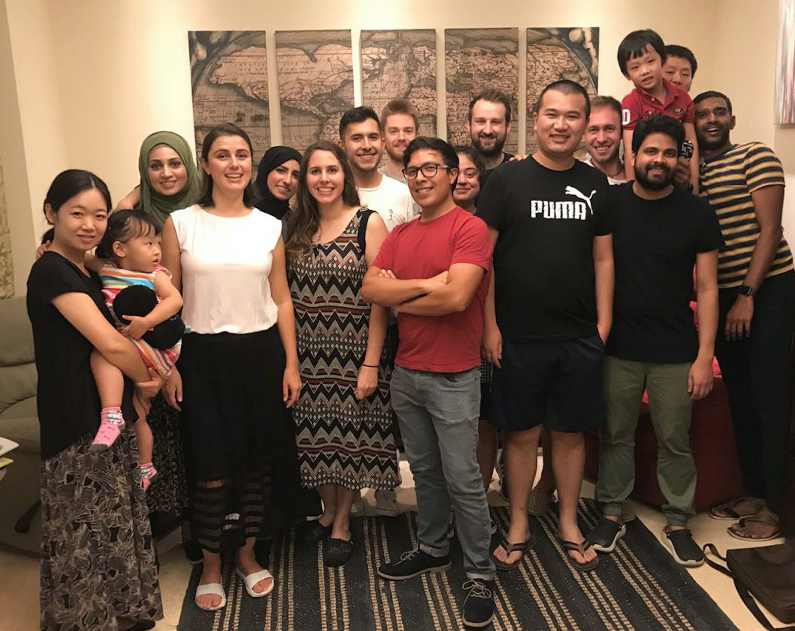2nd Annual International Dinner Party - 9/9/18Our Growing OMEGA lab Family! This weekend we had our 2nd annual international/multicultural Omegalab dinner and bbq hosted by our PI Derya Baran . Overall a lovely evening with great food and great people.