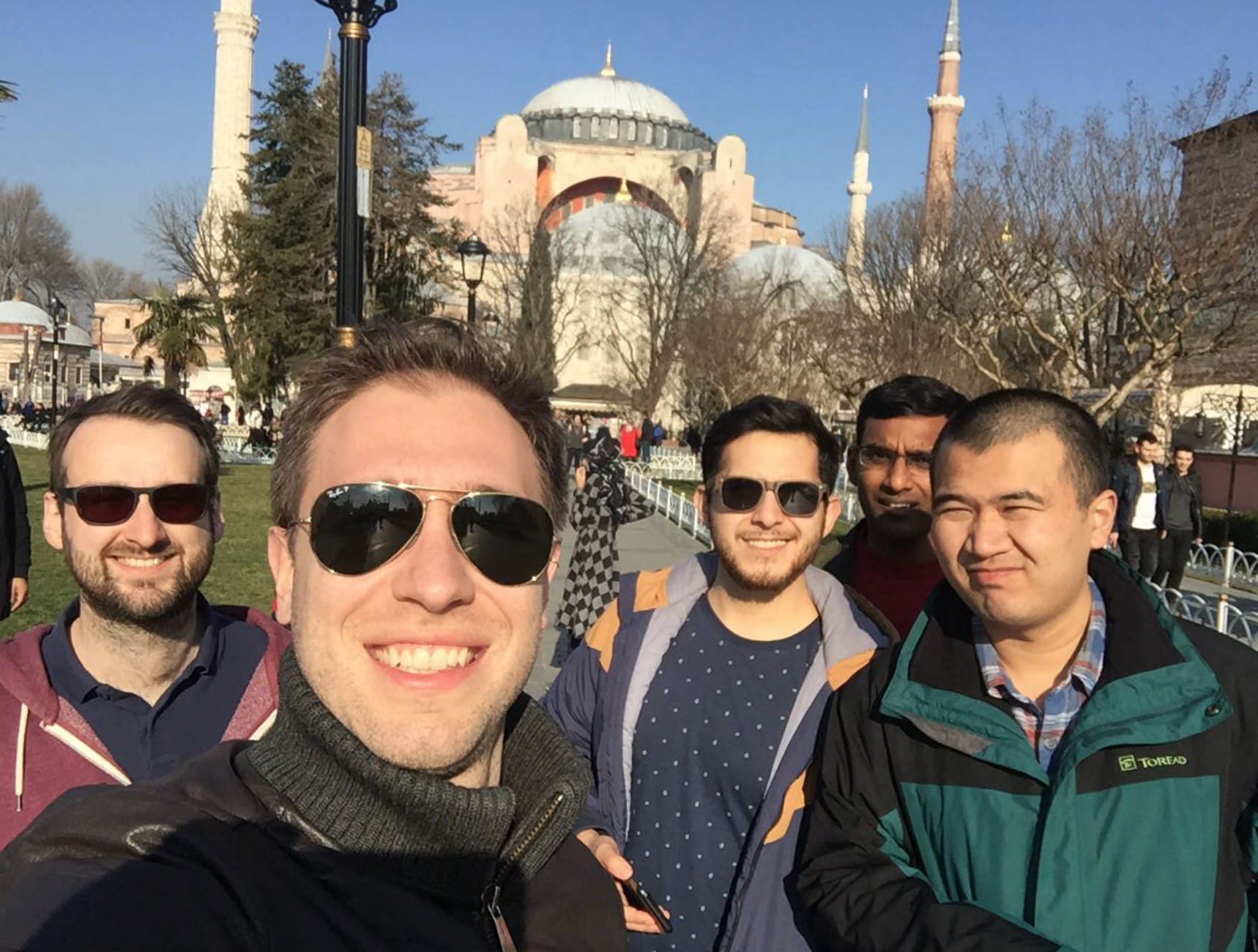 OMEGA Lab in Turkey - 4/2/18OMEGA team members explore and enjoy some food before attending the Symposium on Recent Advances on Organic/Hybrid Electronics. Team outings are a great way to facilitate bonding among group members!