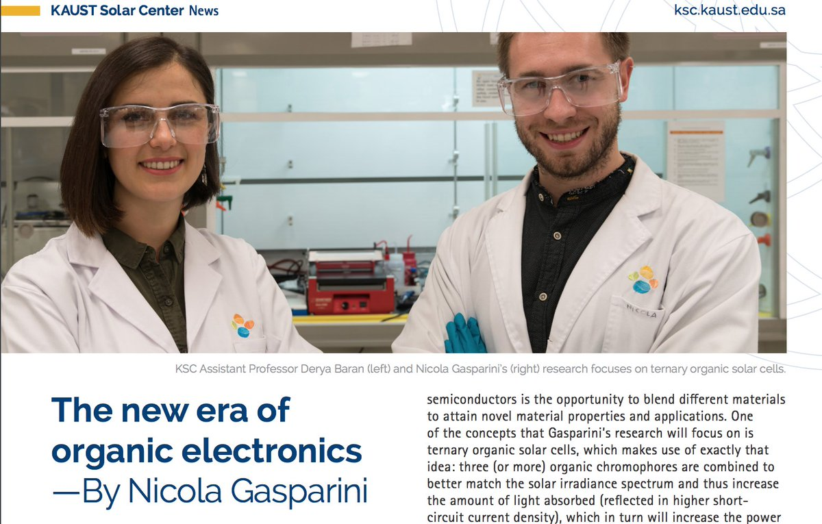 Nicola Gasparini's Feature in the KSC newsletter - 30/1/18OMEGA lab Post-Doc Nicogaspa 's research highlights featured in the KSC semi-annual newsletter from KAUST Solar Center . Please make sure to check it out.https://ksc.kaust.edu.sa/Documents/Newsletter/KSC-Newsletter_2018_01.pdf …
