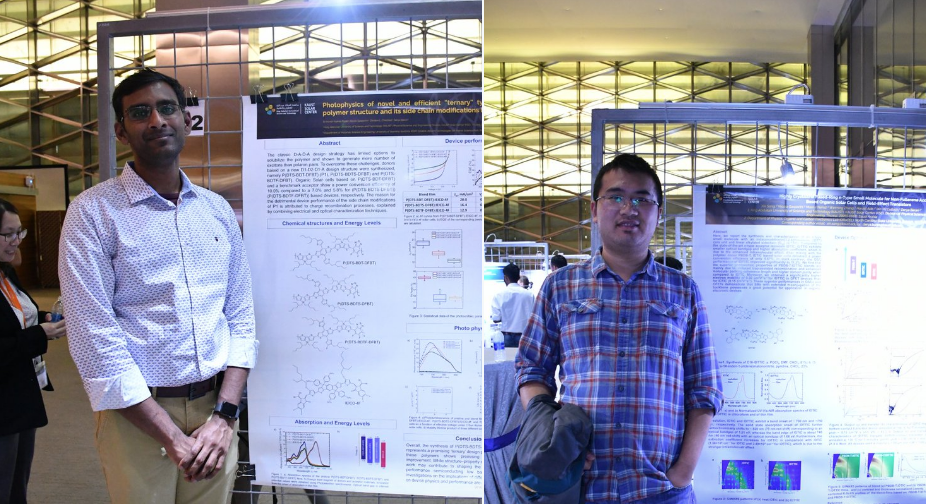 KSC Poster Session - 12/02/19PhD students, Sri Paleti, Xin Song and Khulud Almasabi present their research projects at the 2019 KAUST Solar Conference poster session.