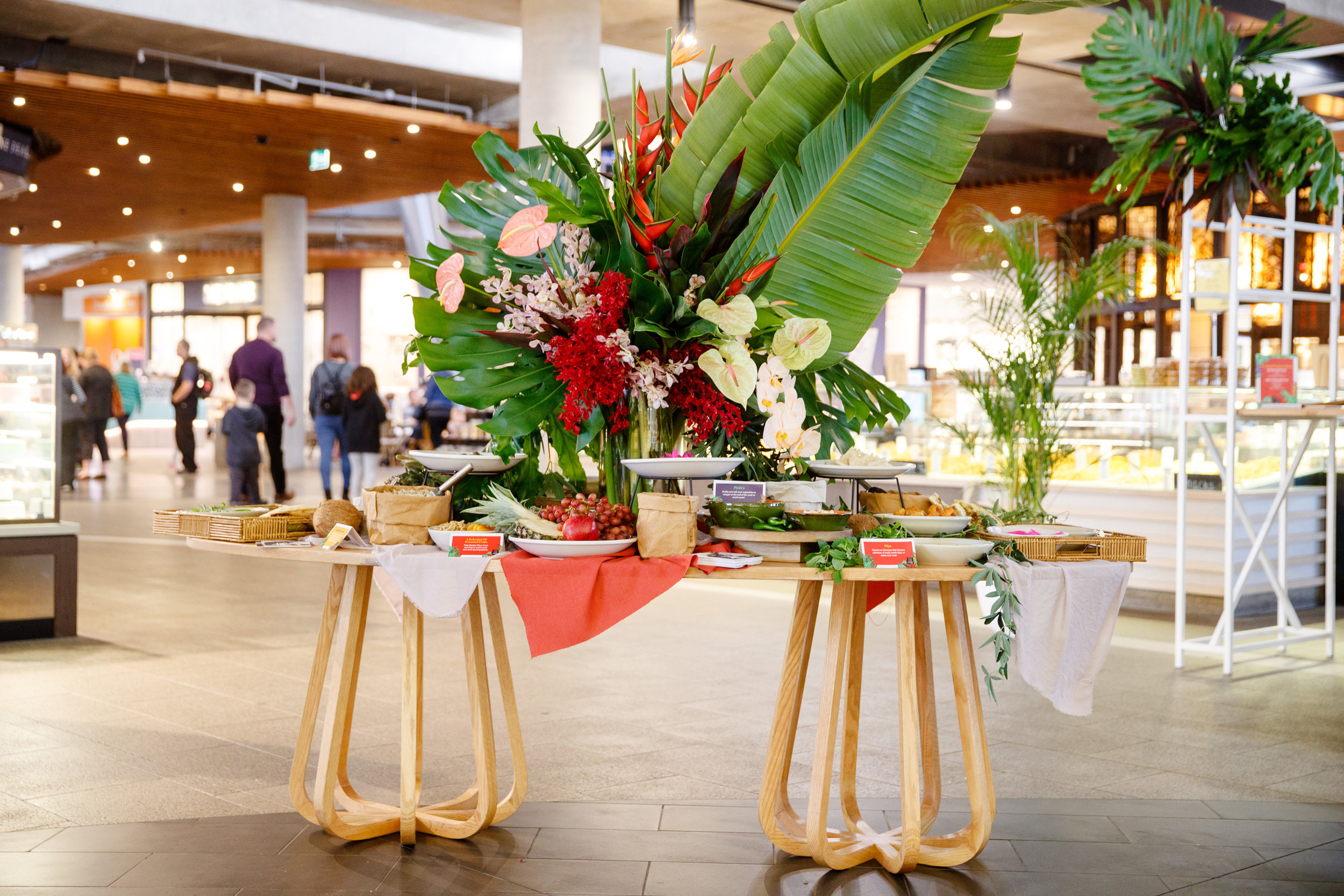 Bright and tropical grazing table in Highpoint Shopping Centre