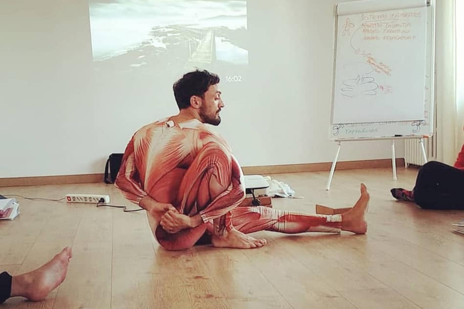 7th August, Opening the soul - 7:00: Meditation7:30: Shamanic Movements with Ana Pau9 : Breakfast10:30 : Thai Yoga Massage workshop with Clay Burns.13:30 : Lunch Break15.30 : Anatomy for Massage with Davide Stasi17.30: Acroyoga practice with Clay Burns.20:00 : Dinner21:30 : Talk on Human Design, by Ana Pau.