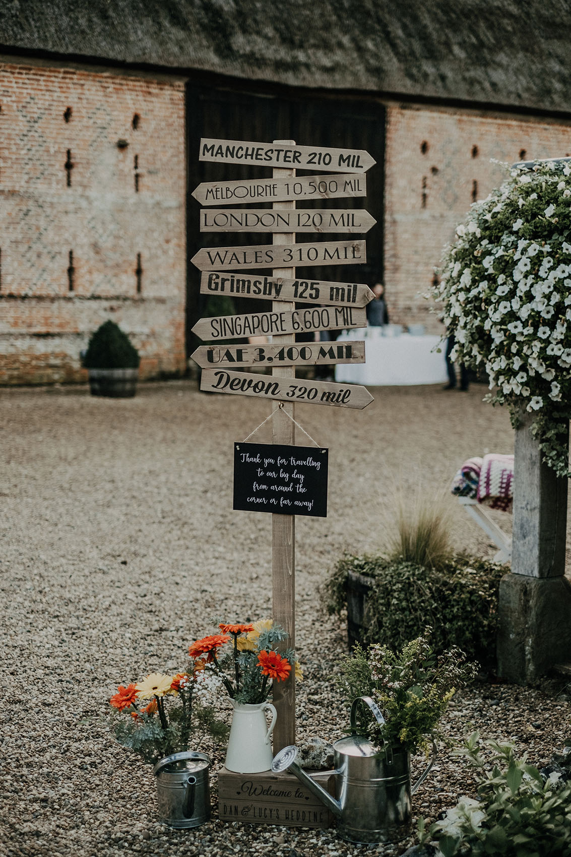 Rustic wedding decor at Norwich wedding