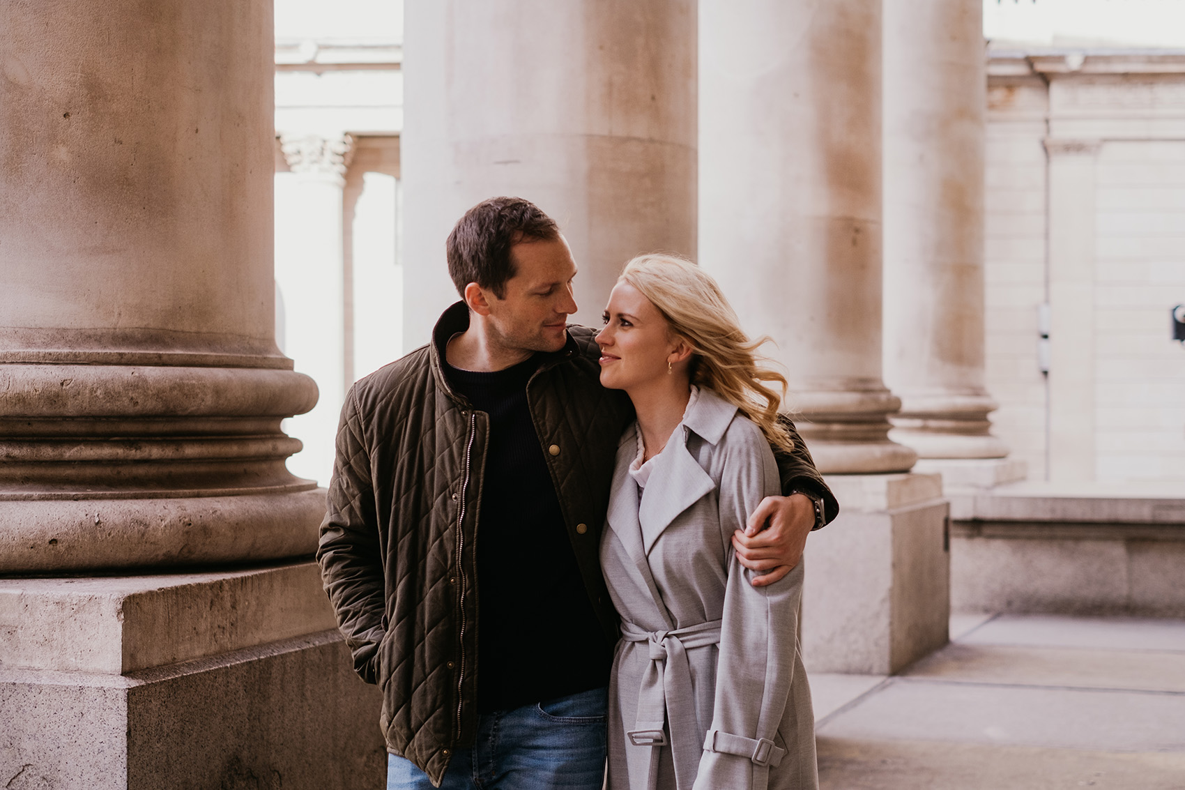 Relaxed engagement photography in central London