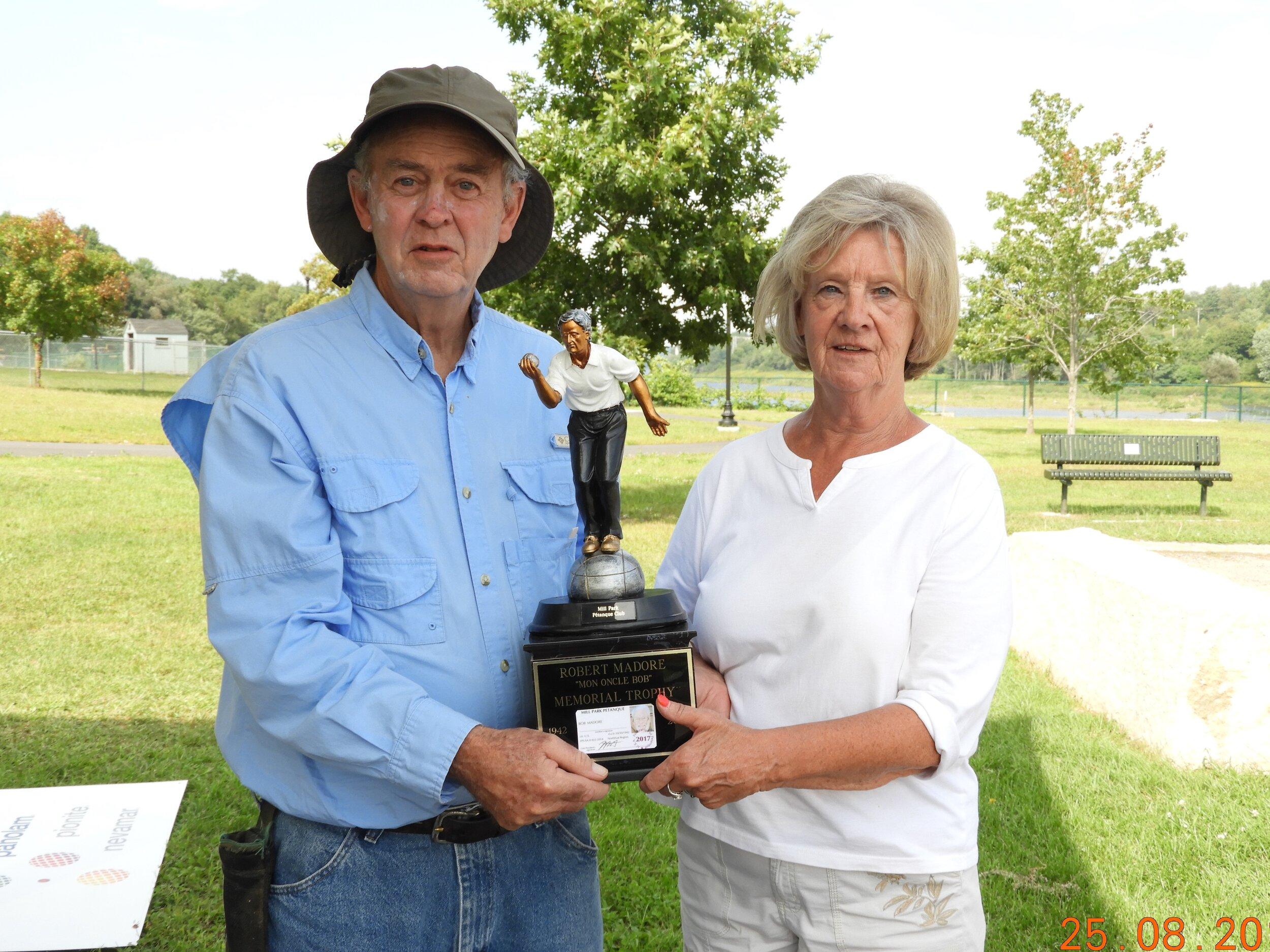 2018 Bob Madore winners Carol Racine and Dave Antrum