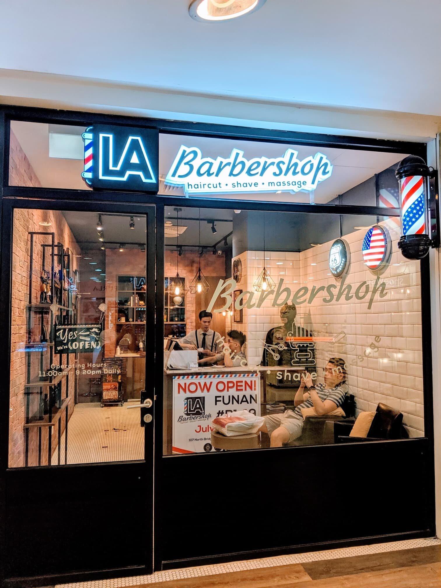 LA Barbershop Velocity Outlet at Novena Square