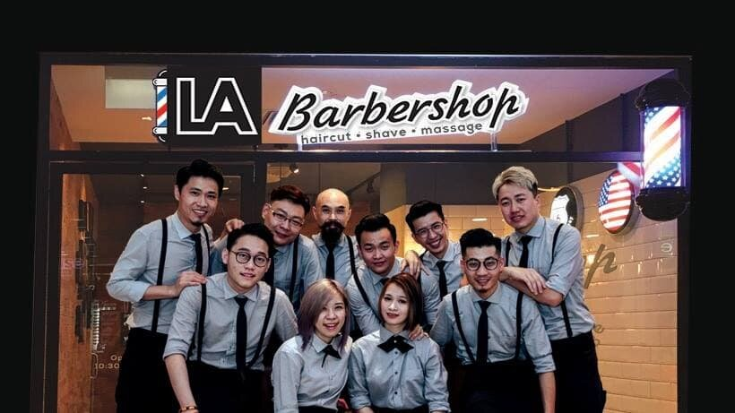 The Crew from LA Barbershop